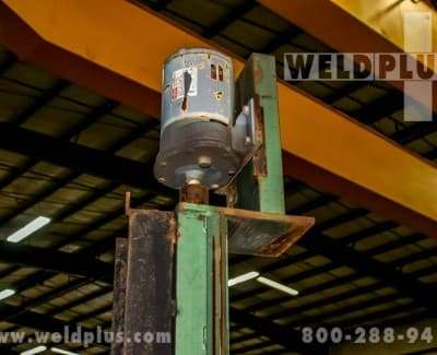 We have a large selection of new, rebuilt, used, welding column and boom manipulators for your welding fabrication requirements. Items like the 4 x 2 Capital weld manipulator with travel car and boom located at Weld Plus in Cincinnati, Ohio