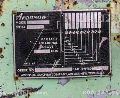 10000 lb TS10 Aronson Tailstock Positioner