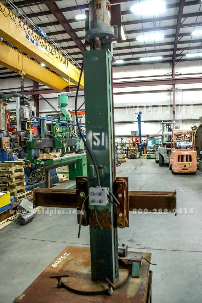4 x 2 ft. Capital Welding Manipulator On Travel Car