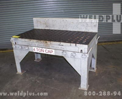 30x60 Inch Used Welding Platen Table