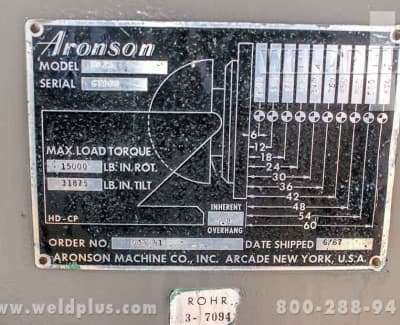 2500 lb Used Aronson Positioner HD25