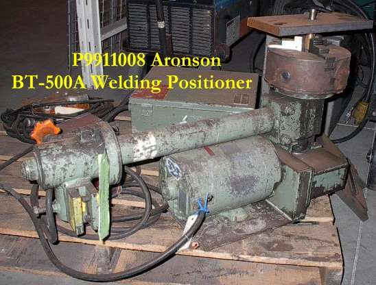 500 lb. Used Weld Positioner Aronson BT500A