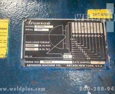 Aronson Model GE250 25000 lb Positioner