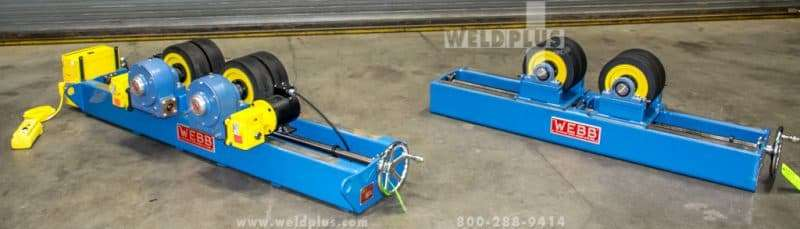 Webb 20,000 lb. Constant Center Turning Roll Set