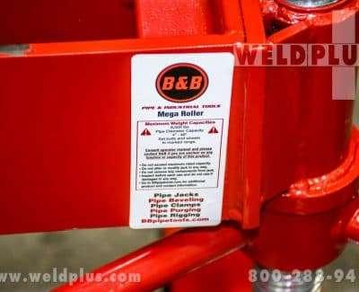 B & B 8000 lb Mega Roller Pipe Stand