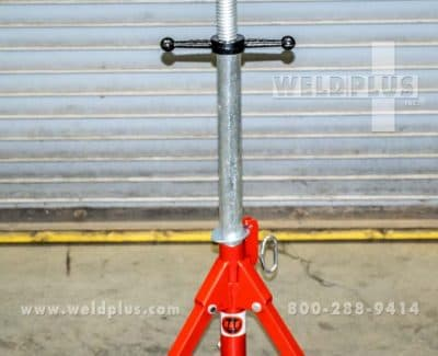 B & B 2500 lb Roller Head Folding Pipe Stand