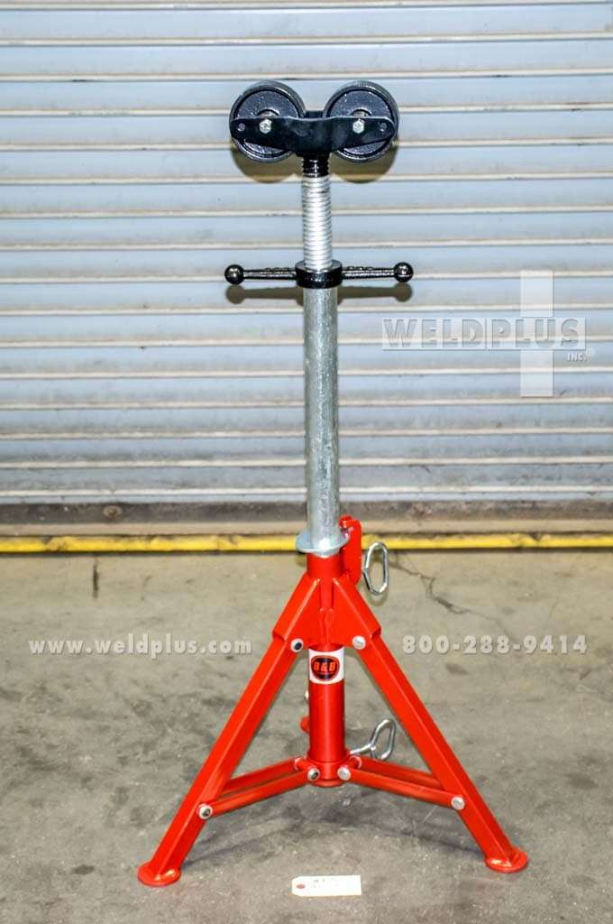 B & B 2,500 lb. Roller Head Folding Pipe Stand