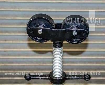 B & B 2500 lb Roller Head Folding Pipe Stand