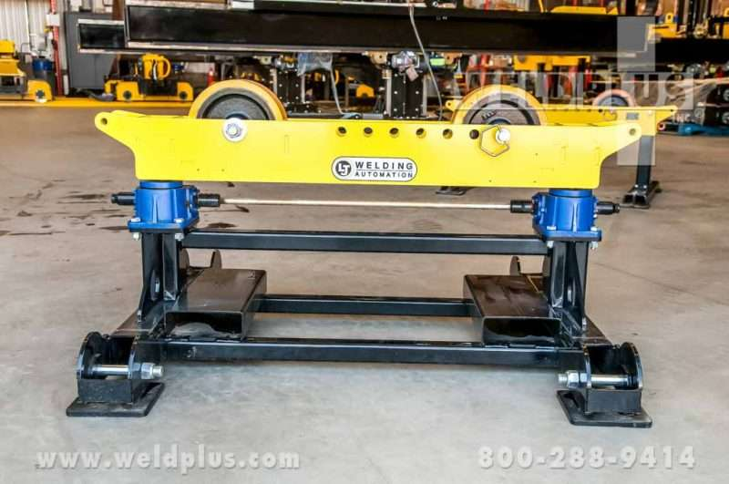 LJ Welding 8,000 lb. Gear Elevated Pipe Roller Stand