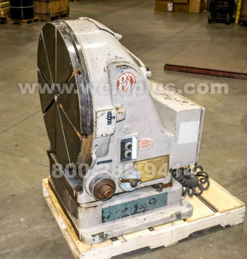 Used Pratt & Whitney 30 Inch Vertical Rotary Table