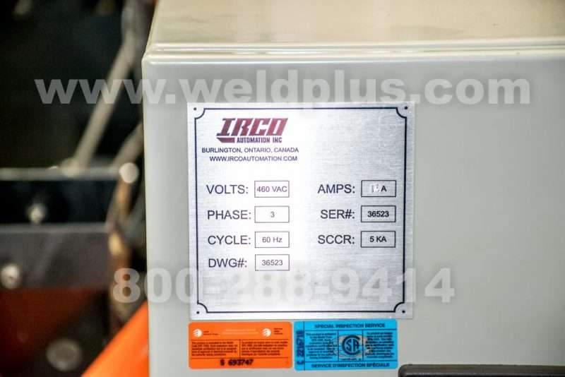 Irco Automation Mini Gantry Submerged Arc Welding System