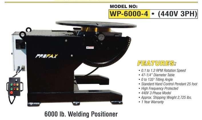 6000 lb Profax Positioner WP6000
