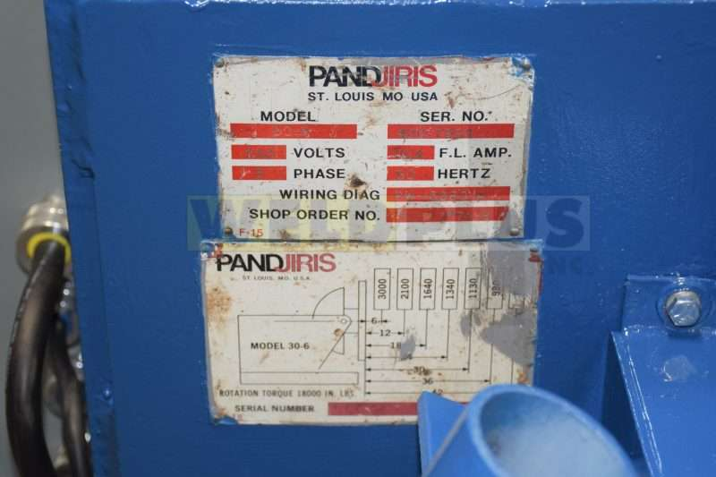 Pandjiris Model 30-6AB Positioner
