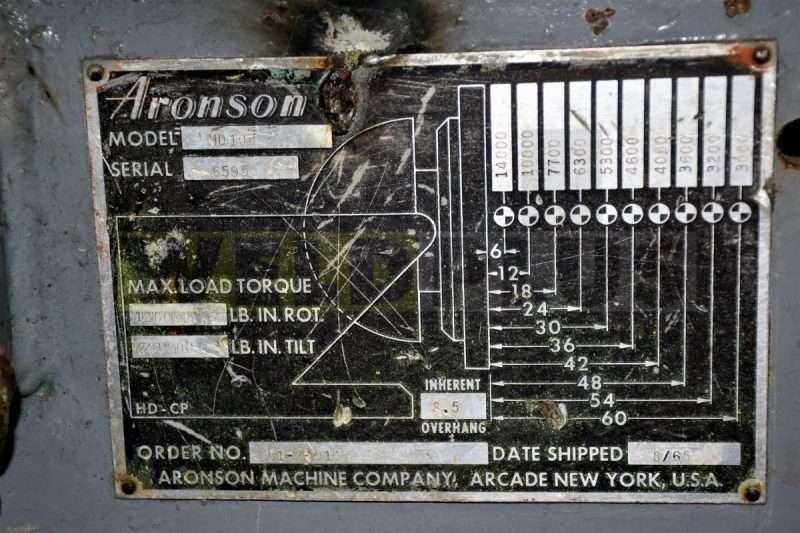 Aronson 10000 lb Positioner
