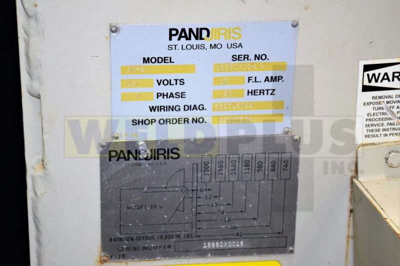 Pandjiris Model 30-6FB Positioner