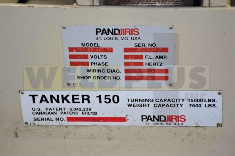 15,000 lb. Pandjiris Tanker Turning Roll Set